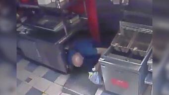 Cameras Capture Thief Crashing Through Ceiling
