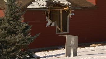 Airborne Car Crashes Through Two Homes