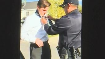 Police Officer Helps Kid With Tie During Traffic Stop