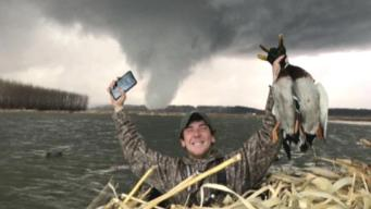 Hunters Ride Out Tornado in Duck Blind
