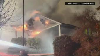 Fire Rips Through Jehovah's Witness Hall