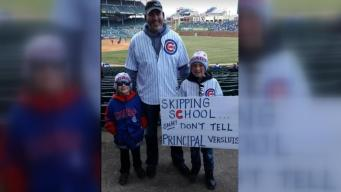 Kids Skipping School at Cubs Game Caught by Principal