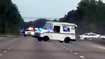 Man Leads Police on High-Speed Chase in Mail Truck