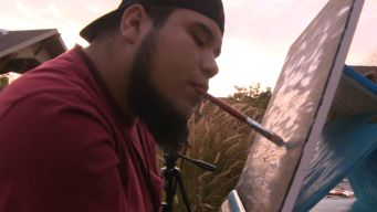 Quadriplegic Artist Creates Paintings With His Mouth