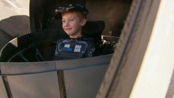 Man Transforms Boy's Wheelchair Into Star Wars TIE Fighter