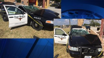 2 Fort Worth Police Officers Hurt in Crash During Pursuit