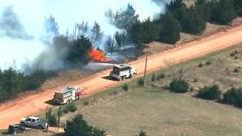 Oklahoma Wildfires Kill 2; Threat Nears Historic Level