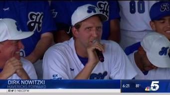 Players Speak Before Dirk's Celebrity Baseball Game