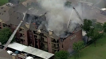 RAW VIDEO Apartment Fire in NW Dallas