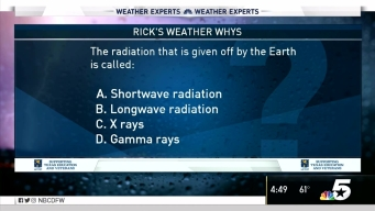 Weather Quiz: Radiation from the Earth