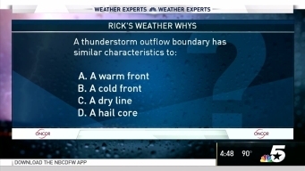 Weather Quiz: Thunderstorm Outflow Boundary