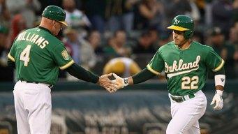 Laureano Homers Twice, Semien Goes Deep as A's Top Rangers