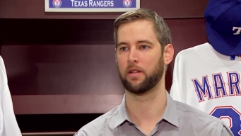 Rangers Introduce Chris Martin Raw Video