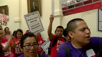 Raw Video: Protesters at Texas Capitol