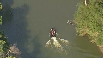 Raw Video: Dallas Firefighters Respond to Rescue Near River