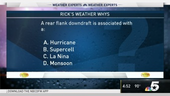 Weather Quiz: A Rear Flank Downdraft is Associated With What?