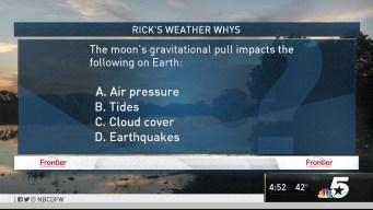 Weather Quiz: Moon's Gravitational Pull