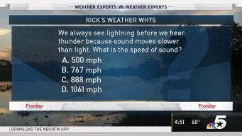 Weather Quiz: What is the Speed of Sound?