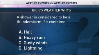 Weather Quiz: A Shower is Considered to be a Thunderstorm if it Contains What?