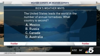 Weather Quiz: What Country Has the Second Highest Number of Tornadoes Behind the United States?