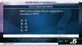 Weather Quiz: Coldest Temperature in Dallas-Fort Worth