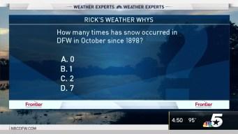 Weather Quiz: Snow in October