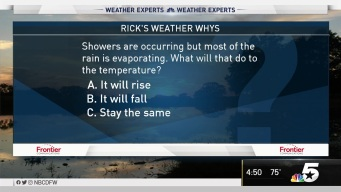 Weather Quiz: Showers and Temperature