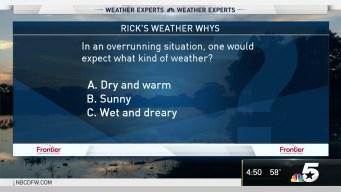 Weather Quiz: Overrunning Situation Weather