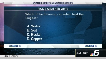 Weather Quiz: What Can Retain Heat the Longest?