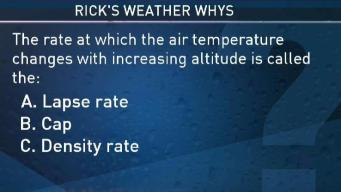 Weather Quiz: What is the Rate Air Temps Change at Increasing Altitudes Called?