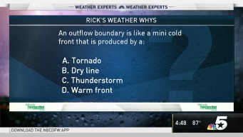 Weather Quiz: An Outflow Boundary is Like a Mini Cold Front that is Produced by What?