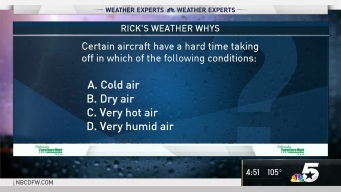 Weather Quiz: Certain Aircraft Have a Hard Time Taking off in Which of the Following Conditions?