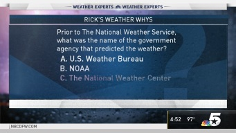 Weather Quiz: Prior to The National Weather Service, What Was the Name of the Government Agency That Predicted the Weather?