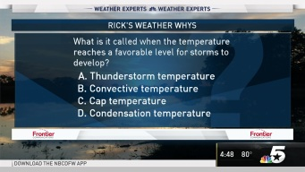 Weather Quiz: Temperature for Storms