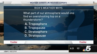 Weather Quiz: Overshooting Top on a Thunderstorm