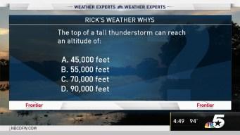 Weather Quiz: Thunderstorm Altitude