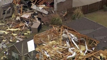 NBC 5 Meteorologist Rick Mitchell Surveys Keller Storm Damage