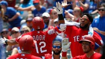 Odor, Cabrera Go Deep, Rangers Beat Blue Jays