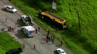 School Bus Crash Near Houston