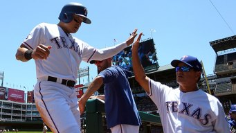 Rangers Double Up A's in 1st Game of Split Doubleheader
