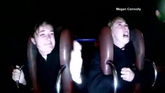 Sling Shot Ride Reaction Turns Hilarious