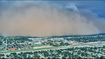 Strong Winds Kick Up Dust Storm in Parts of West Texas