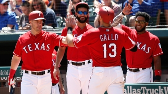 Gallo Drives in 5, Rangers Hold on to Beat Astros