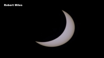 Timelapsed Photos of Solar Eclipse as it Passed Over NTX
