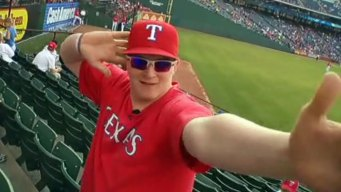 Rangers Fan Grabs Homer and Attention