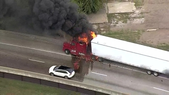 Truck Catches Fire On Highway