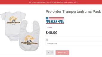 Cruz Backers Can Now Get Trumpertantrum Baby Clothes