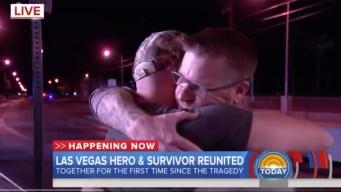 Vegas Gunshot Victim Reunites With Man Who Helped Save Him