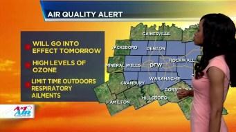 NBC 5 Forecast: Air Quality Alert Monday