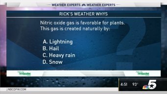 Weather Quiz: What Creates Nitric Oxide Gas?
